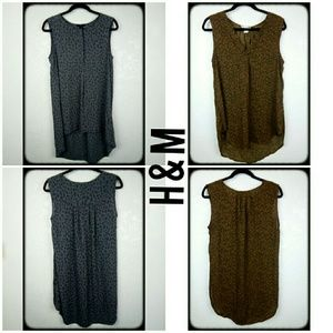 2 H&M semi sheer high low tank top tunics